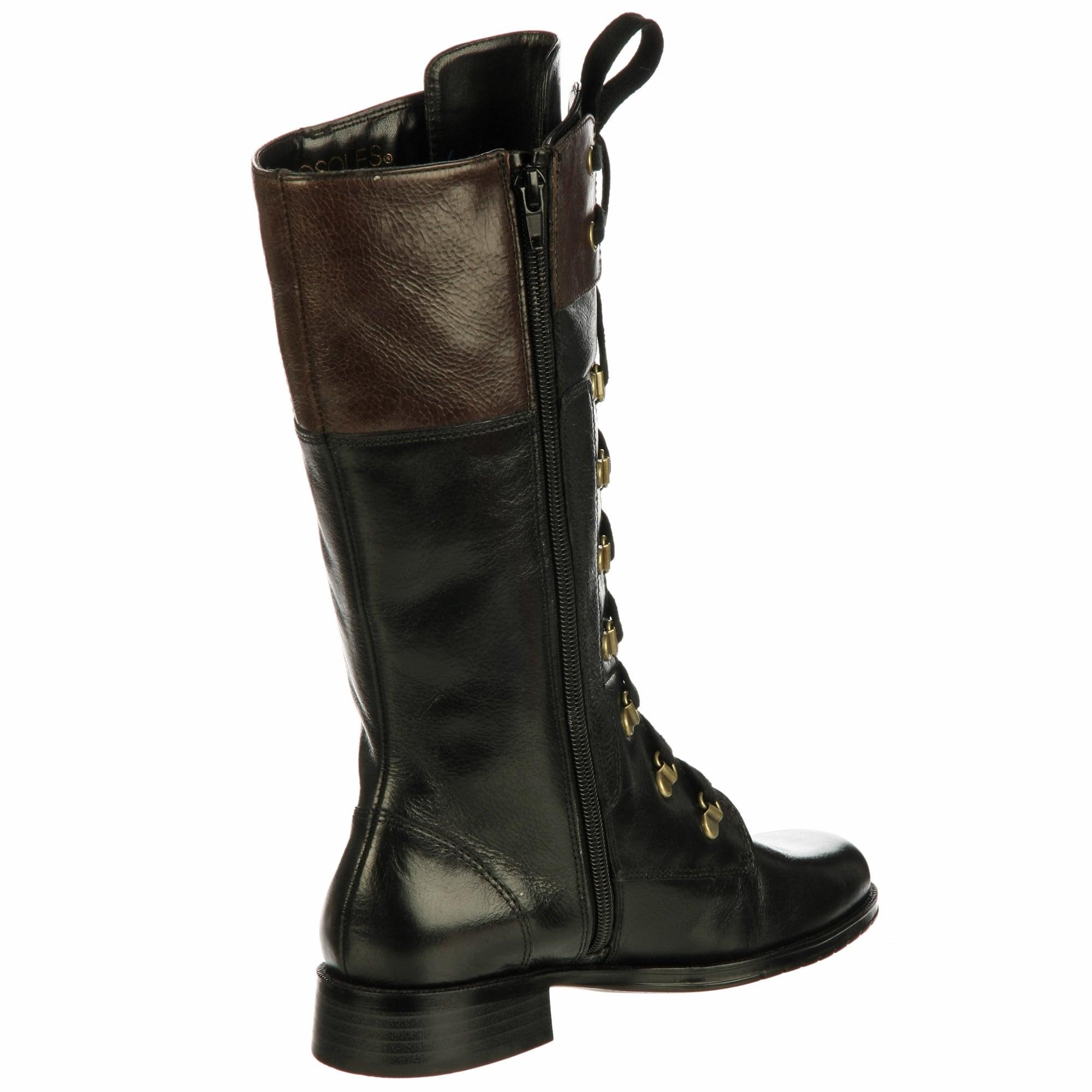 e97cda503830d Shop Aerosoles Women's 'Joyride' Black Lace-up Boots FINAL SALE - Free  Shipping Today - Overstock - 6220761