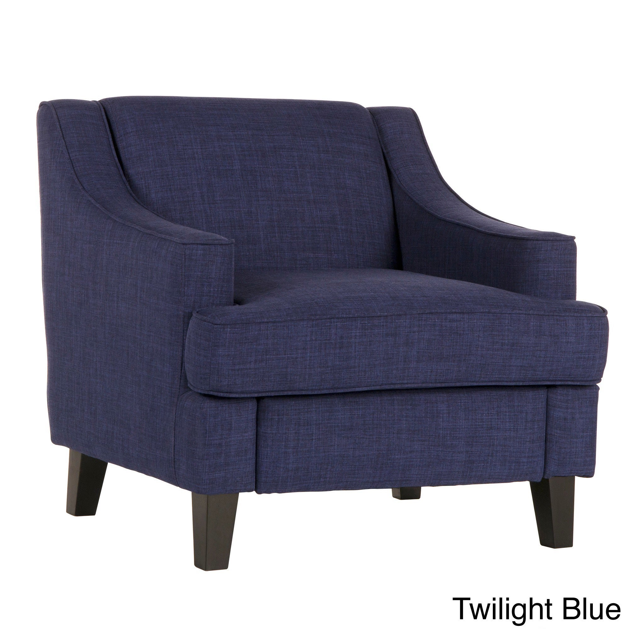 Shop Winslow Concave Arm Modern Accent Chair By INSPIRE Q Bold   Free  Shipping Today   Overstock.com   6223600
