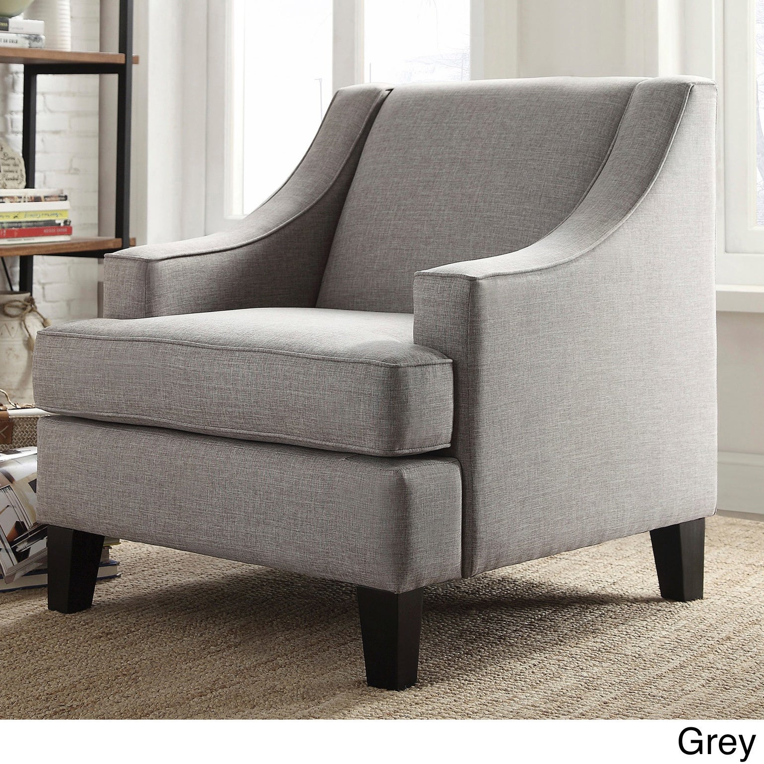 Winslow Concave Arm Modern Accent Chair by iNSPIRE Q Bold - Free Shipping  Today - Overstock.com - 13867505