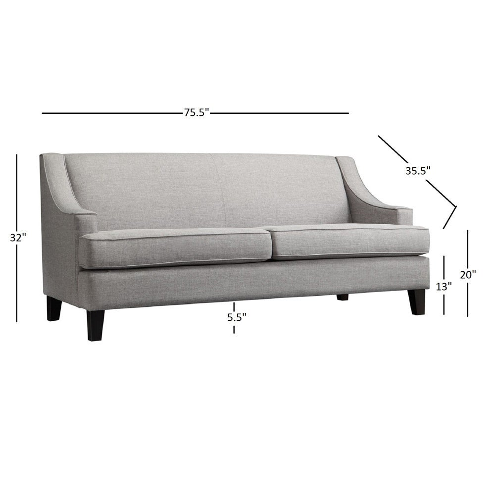 Winslow Concave Arm Modern Sofa By INSPIRE Q Bold   Free Shipping Today    Overstock   13867507