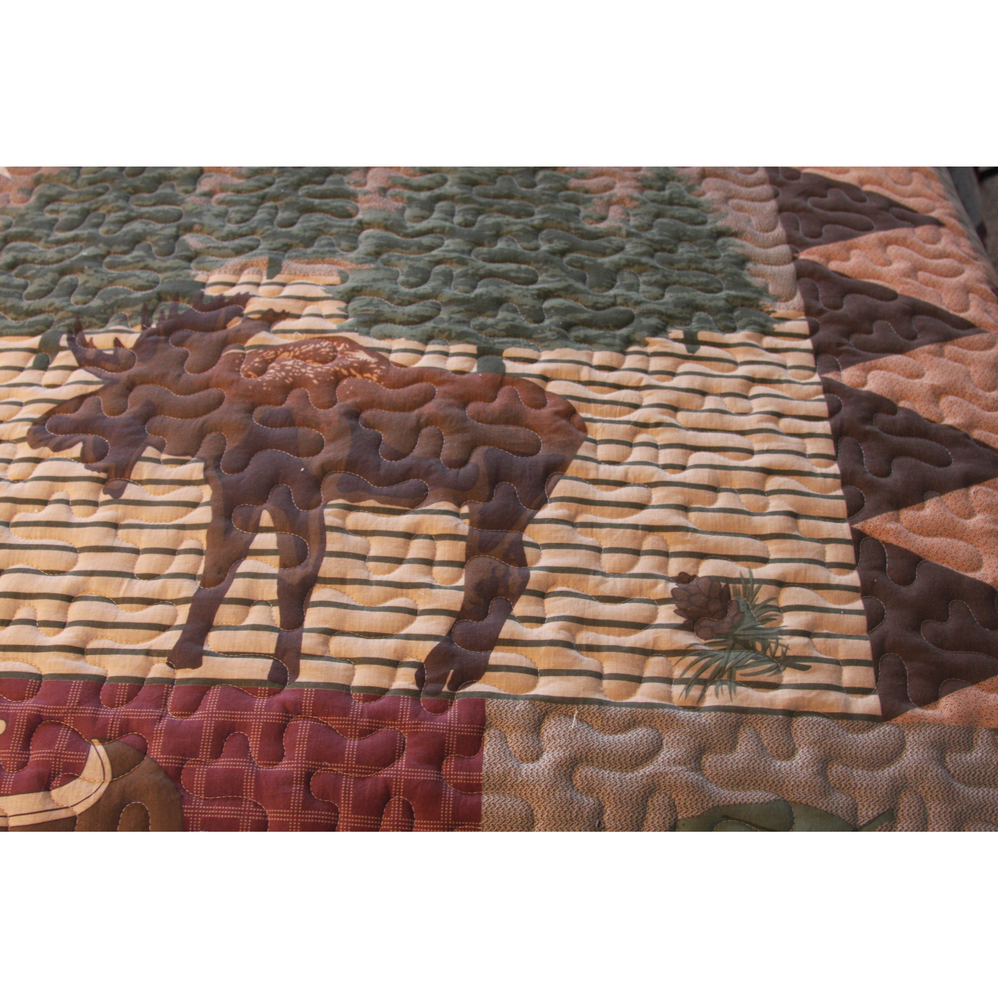 Greenland Home Fashions Moose Lodge 3-piece Quilt Set - Free ... : moose lodge quilt set - Adamdwight.com