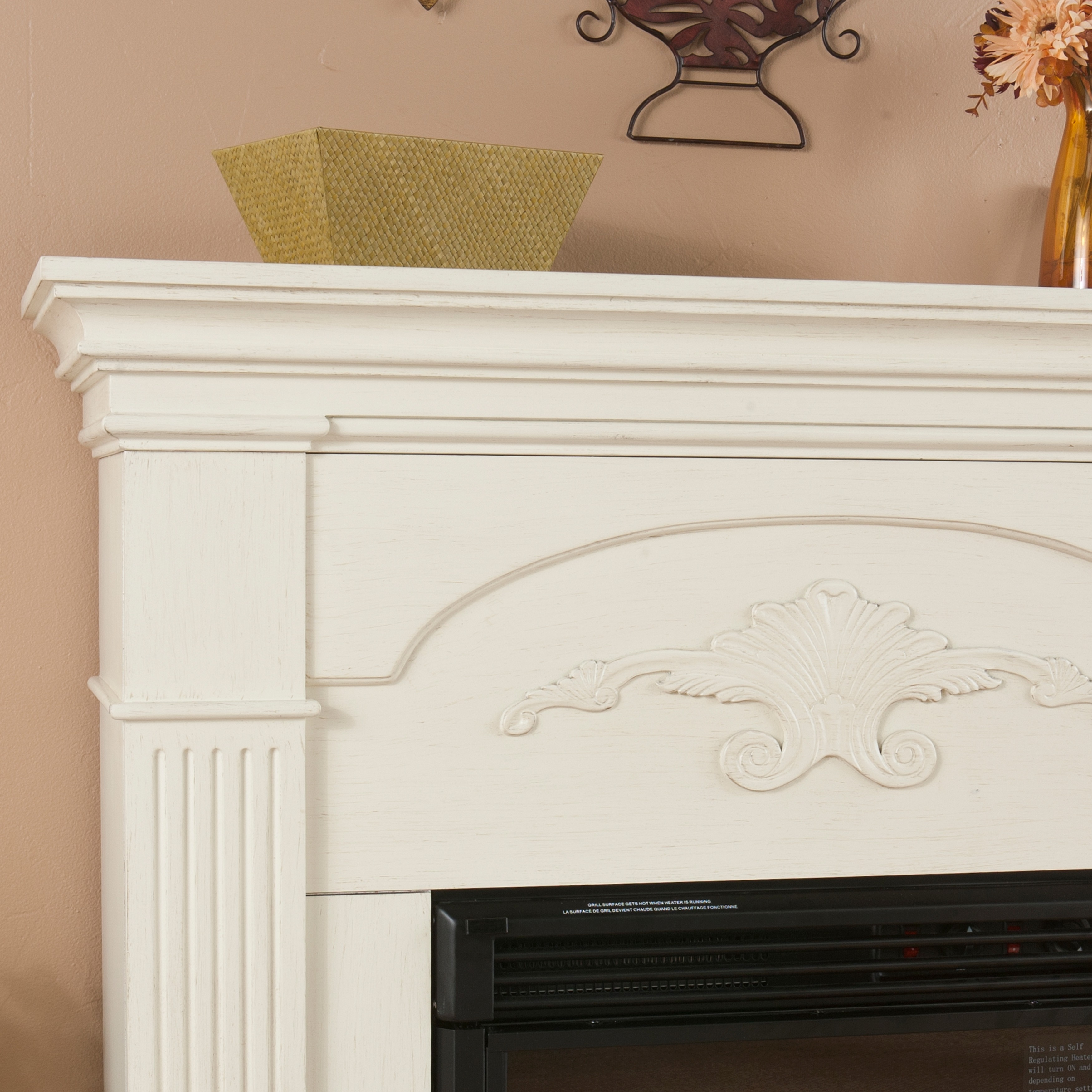Harper Blvd Gilbert Ivory Electric Fireplace - Free Shipping Today -  Overstock.com - 13871312