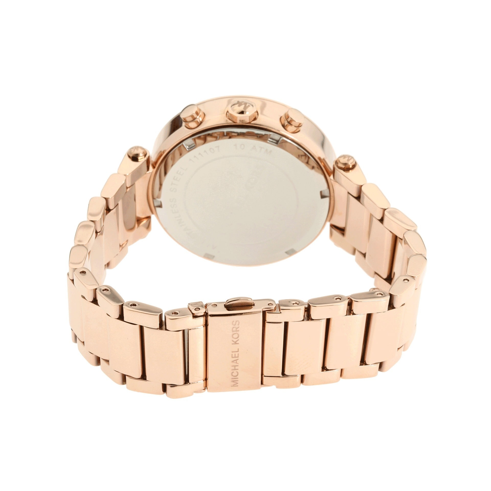 b0743a312325 Shop Michael Kors Women s MK5491 Rose Goldtone Chronograph Watch - Gold -  Free Shipping Today - Overstock - 6233476