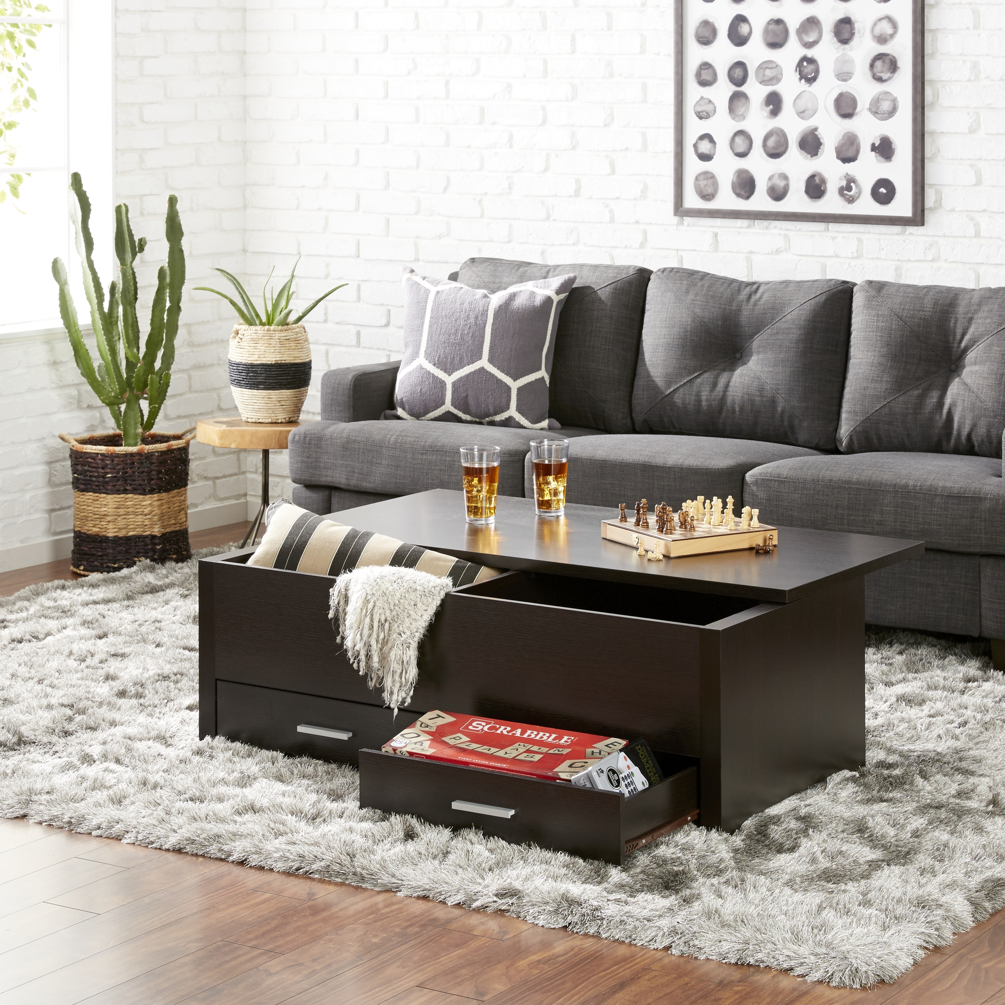 Furniture Of America Knox Espresso Wood Storage Box Coffee Table On Free Shipping Today 6237346