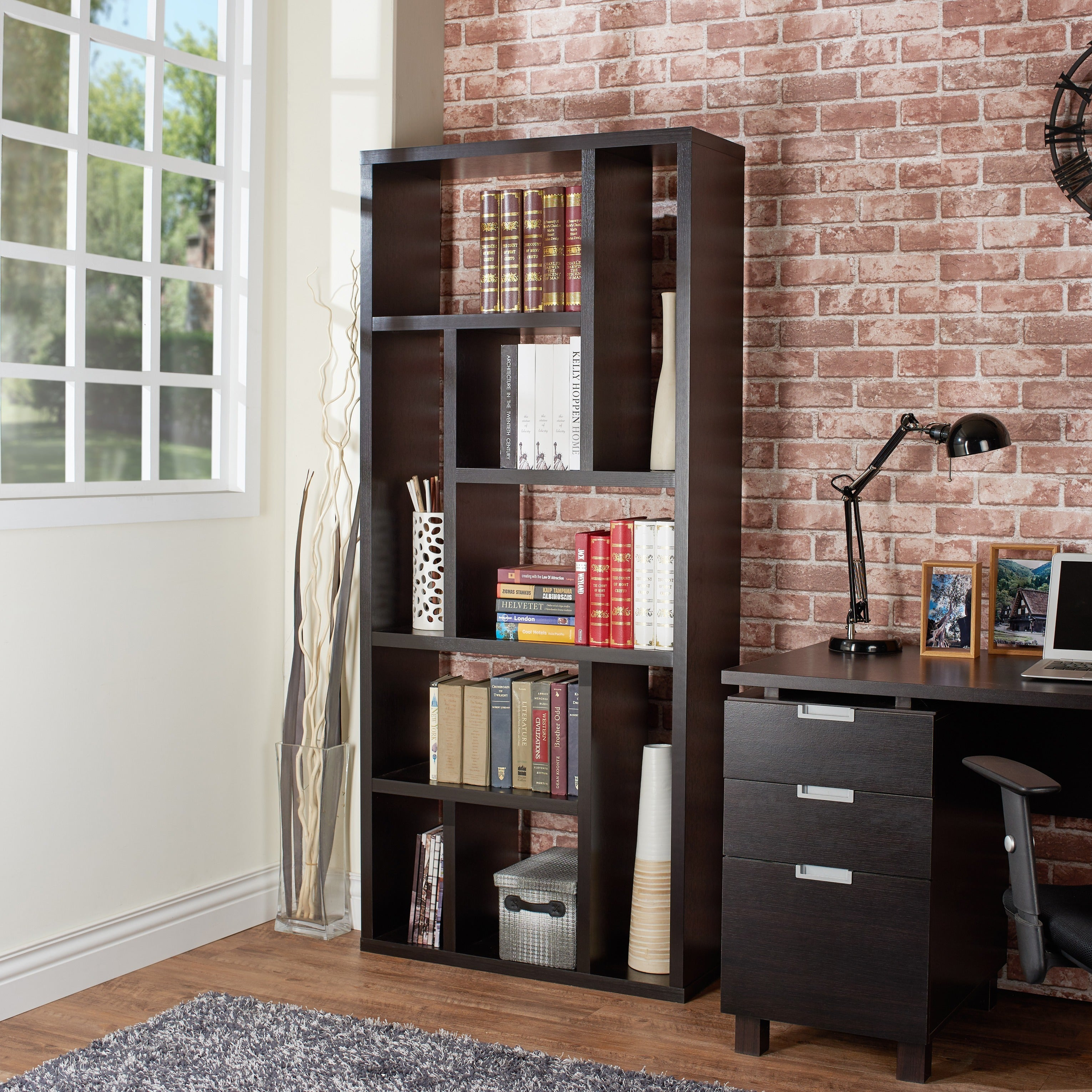 Furniture Of America Cuccino Wood Multi Purpose 3 In 1 Display Cabinet Tv Stand And Bookcase Free Shipping Today 6237505