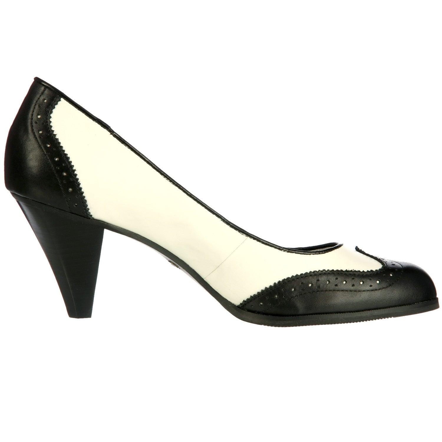e1ca298a9fef Shop Bass Women s  Greenwood  Wing Tip Spectator Pumps - Free Shipping On  Orders Over  45 - Overstock - 6240385