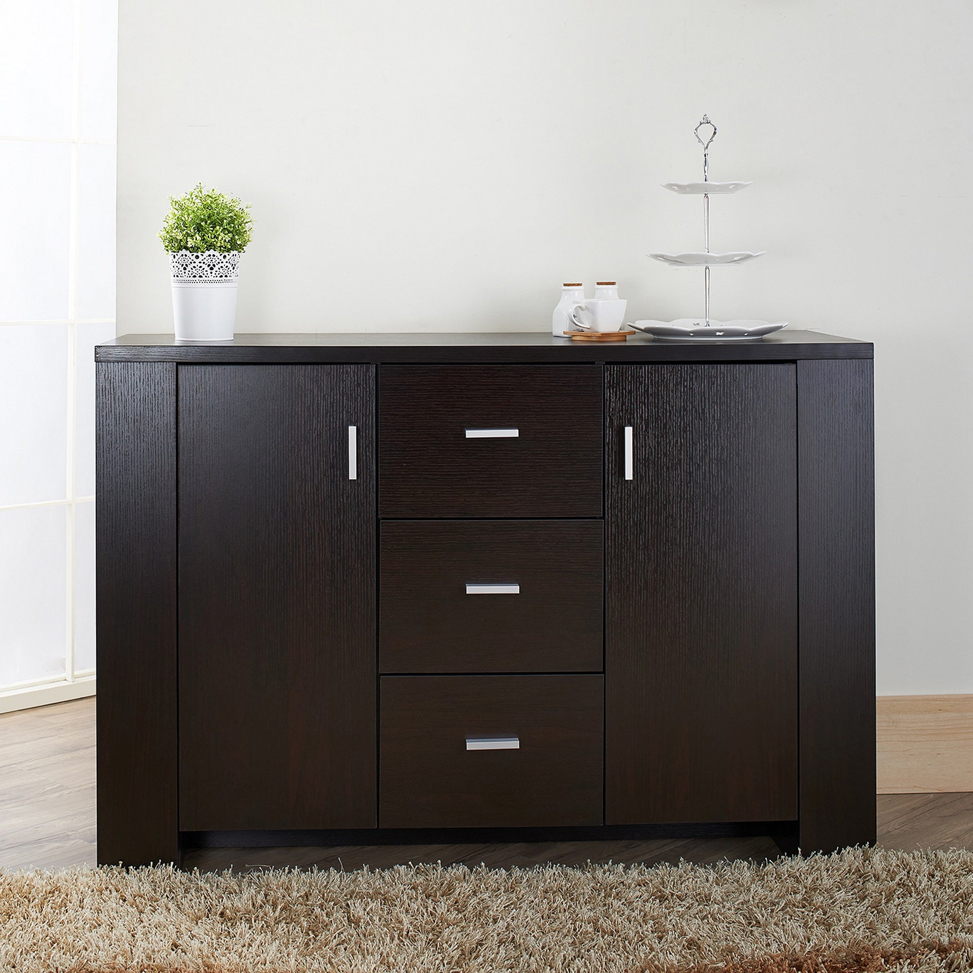 Furniture of America Clayton Cappuccino finish Dining Buffet
