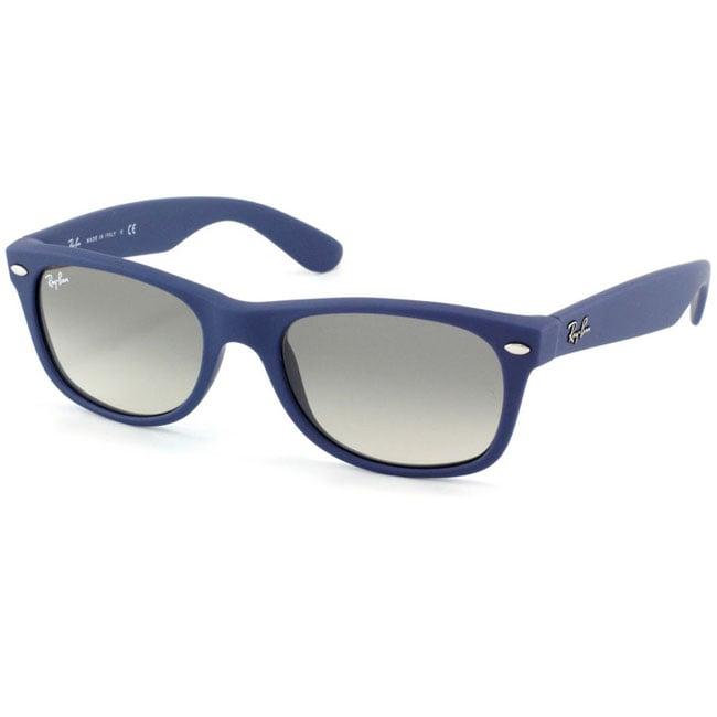 a5a0ebc0e2 Shop Ray-Ban New Wayfarer Blue 52mm Sunglasses - Free Shipping Today -  Overstock - 6247193