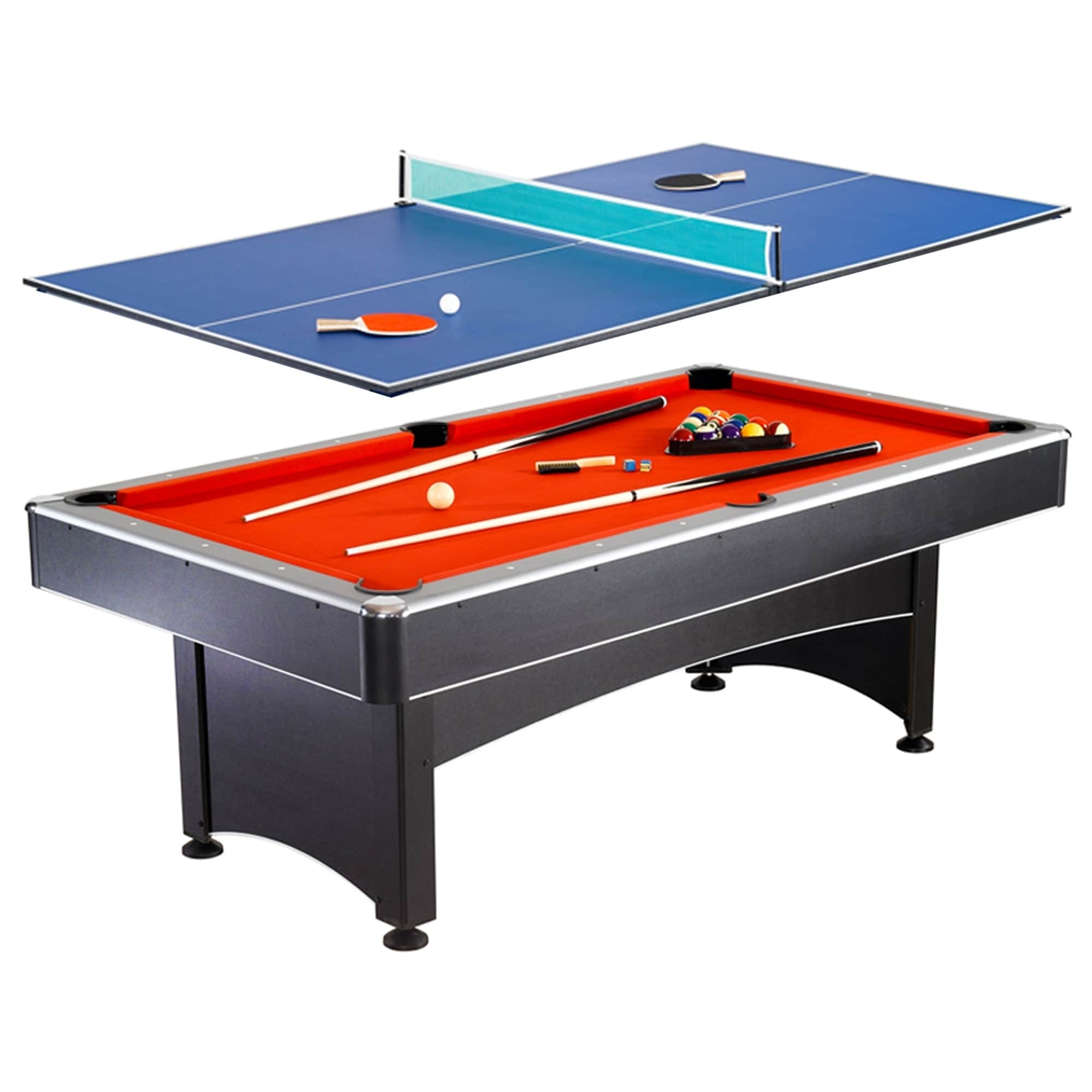 table shipping overstock free pool toys product game sports fat foot and hockey original pockey today billiards air cat in black