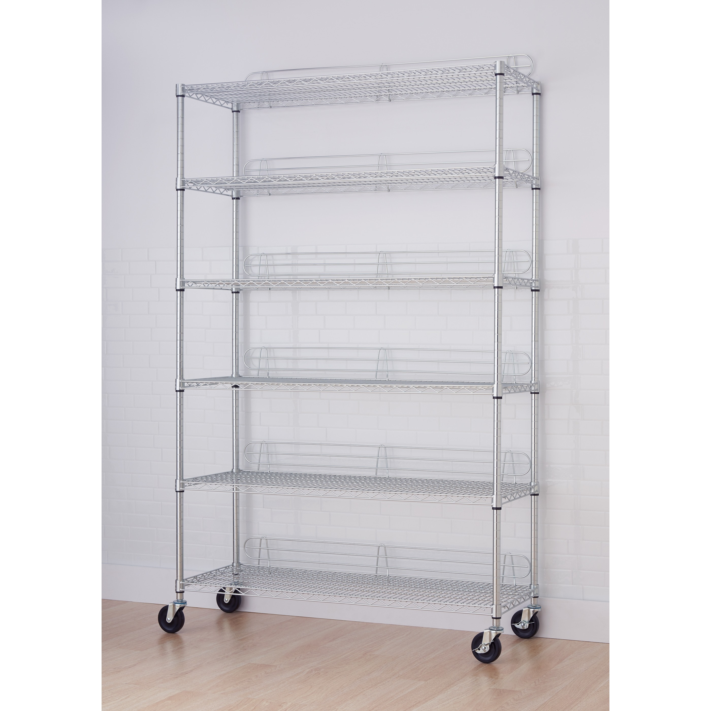 Shop TRINITY NSF 6-tier Chrome Wire Shelving Rack - Free Shipping ...