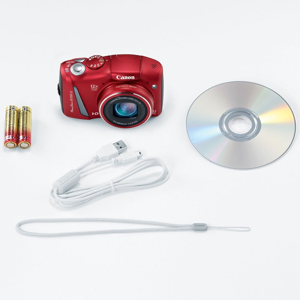 Canon PowerShot SX150 IS 14 1MP Red Digital Camera