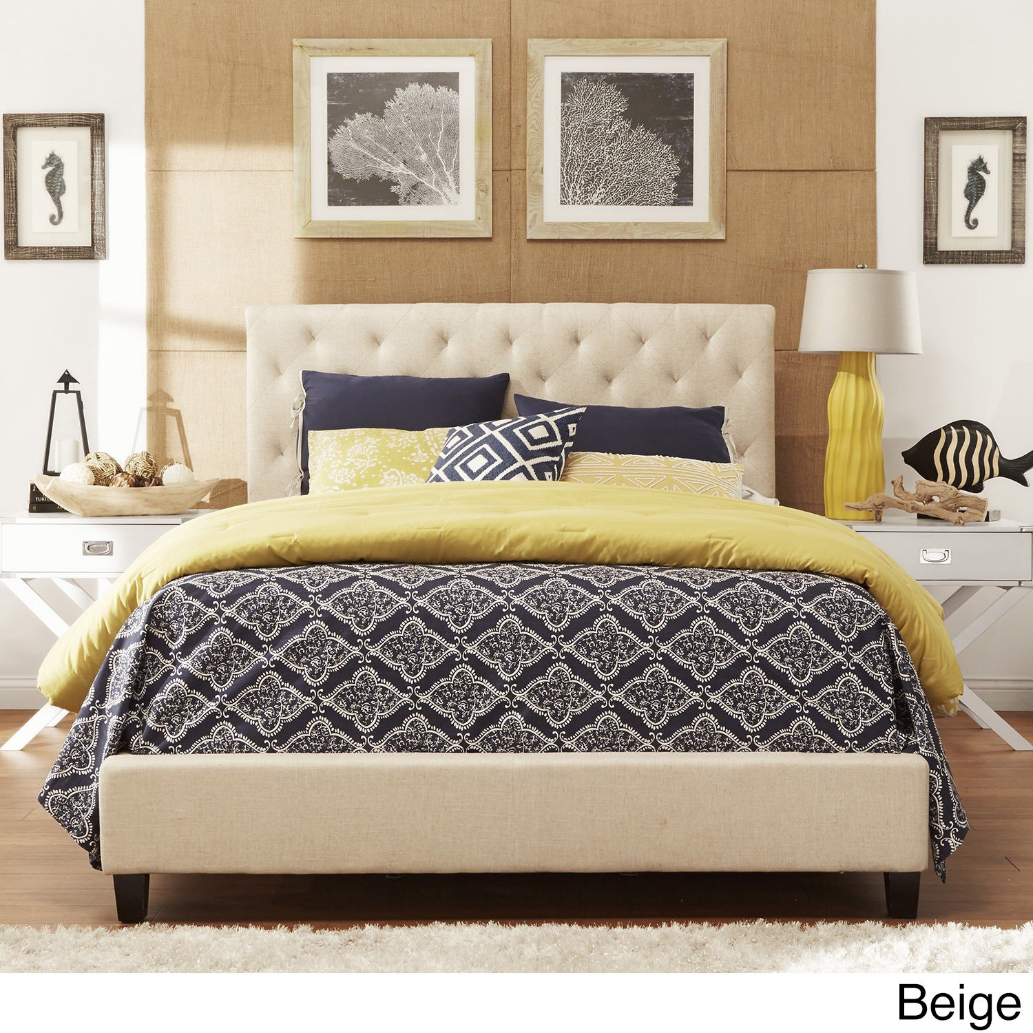 Sophie Tufted Upholstered Platform Bed by iNSPIRE Q Classic - Free Shipping  Today - Overstock.com - 13915497