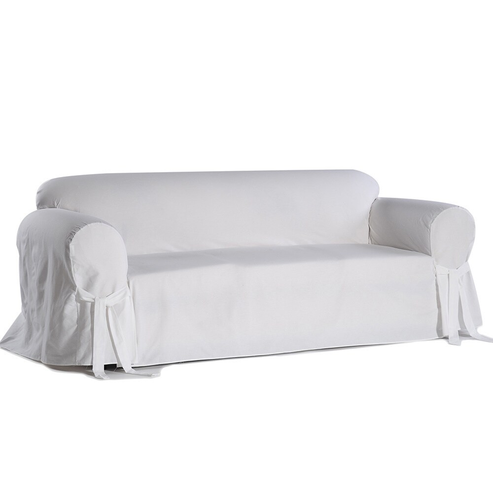 Shop Classic Slipcovers Machine Washable Cotton Duck Sofa Slipcover