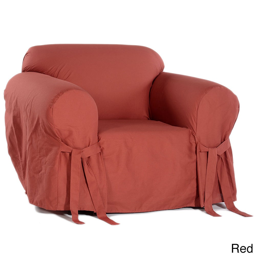 Classic Slipcovers Cotton Duck Chair Slipcover   Free Shipping Today    Overstock   942730
