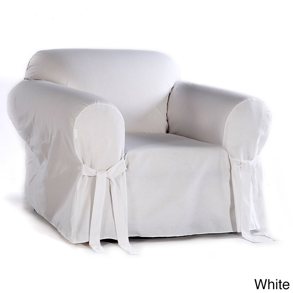 Shop Classic Slipcovers Cotton Duck Chair Slipcover   On Sale   Free  Shipping Today   Overstock.com   628273