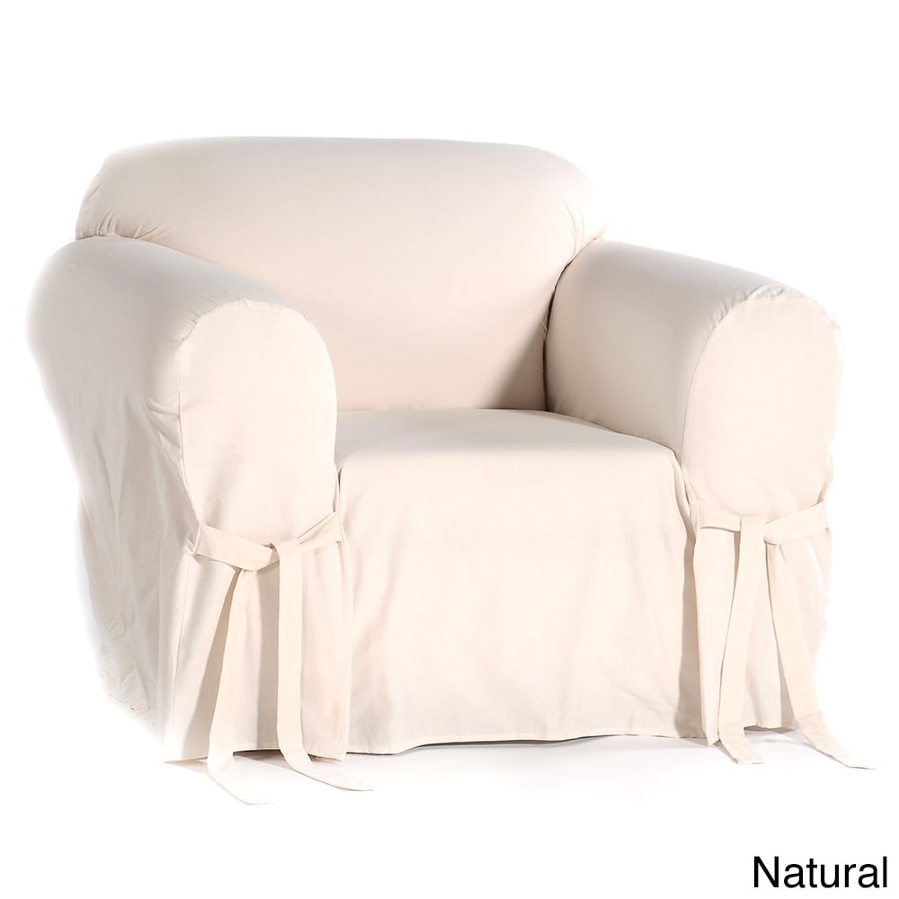 Great Classic Slipcovers Cotton Duck Chair Slipcover   Free Shipping Today    Overstock.com   942730