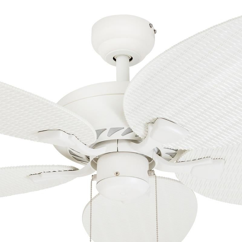 Ecosure Siesta Key White 52 Inch Tropical Ceiling Fan With Wicker Blades And Remote Control Free Shipping Today 6283944