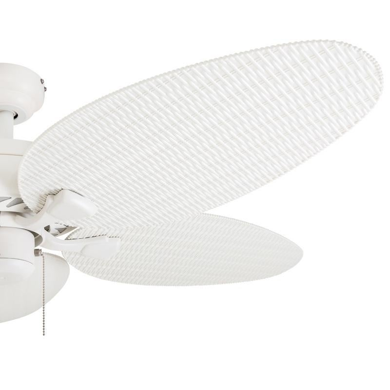 Shop ecosure siesta key white 52 inch tropical ceiling fan with shop ecosure siesta key white 52 inch tropical ceiling fan with wicker blades and remote control free shipping today overstock 6283944 aloadofball Image collections