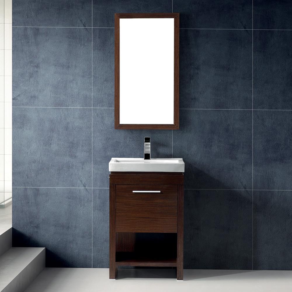 Shop Vigo 21-inch Adonia Single Bathroom Vanity with Mirror - Free  Inch Bathroom Vanity Sink on 96 in 2 sink bathroom vanity, 21 inch vanity combo, 18 inch wide bathroom vanity, 21 inch vanity for bathroom, 19 inch bathroom vanity,