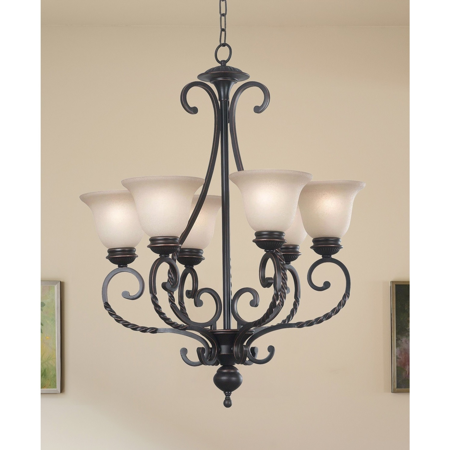 Levy 6 light Oil Rubbed Bronze Chandelier Free Shipping Today