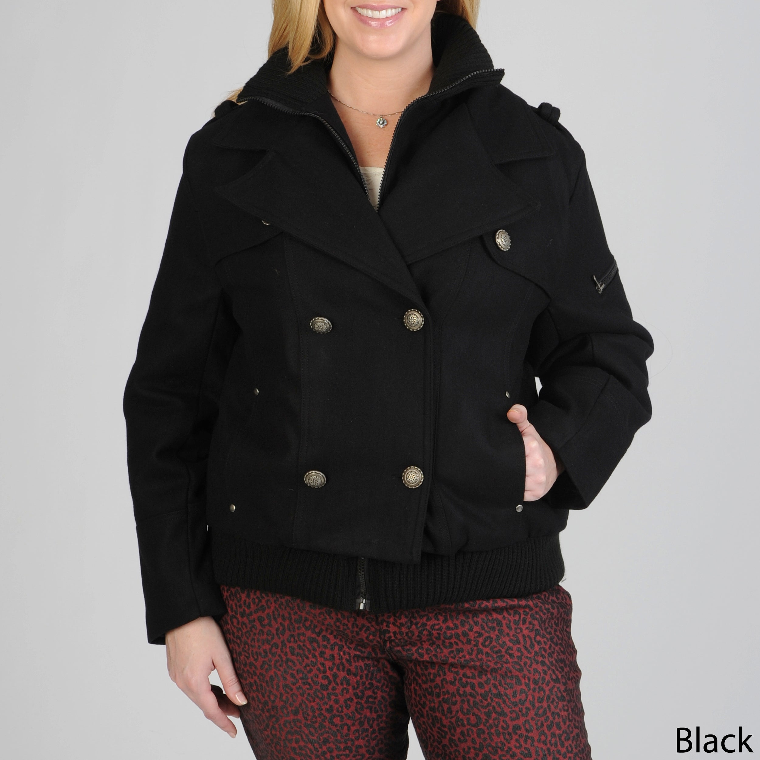 feda292b62f68 Shop Excelled Women s Plus Size Double-breasted Wool-blend Peacoat - Free  Shipping Today - Overstock - 6293914
