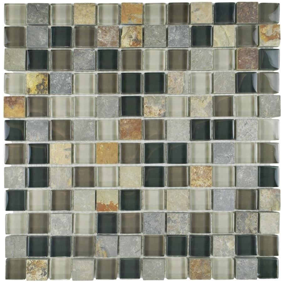 Somertile 11 625x11 625 Inch Reflections Square Stonehenge Gl And Stone Mosaic Wall Tile 10 Tiles 9 59 Sqft Free Shipping Today