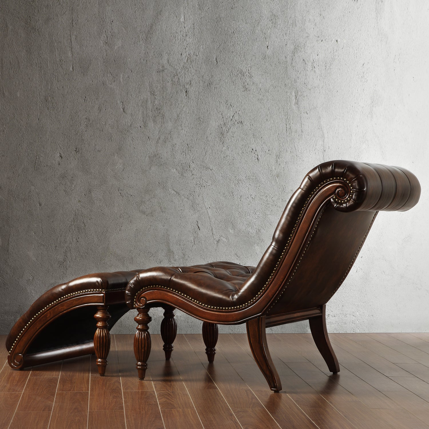 Bellagio Classic Tufted Chaise Lounge with Ottoman by iNSPIRE Q Artisan -  Free Shipping Today - Overstock.com - 13930804