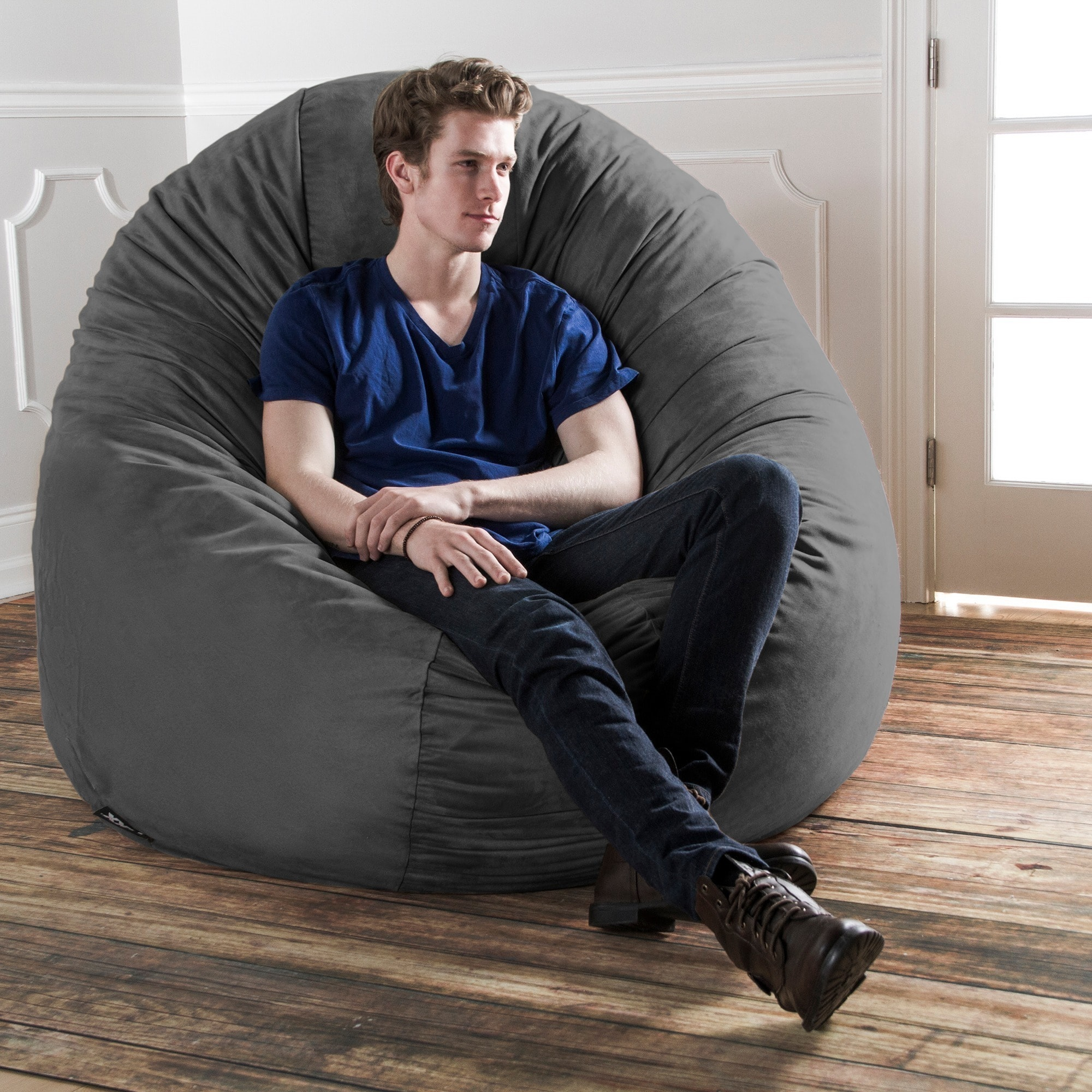 Shop Jaxx 6u0027 Cocoon Bean Bag Sofa   Free Shipping Today   Overstock.com    6300627