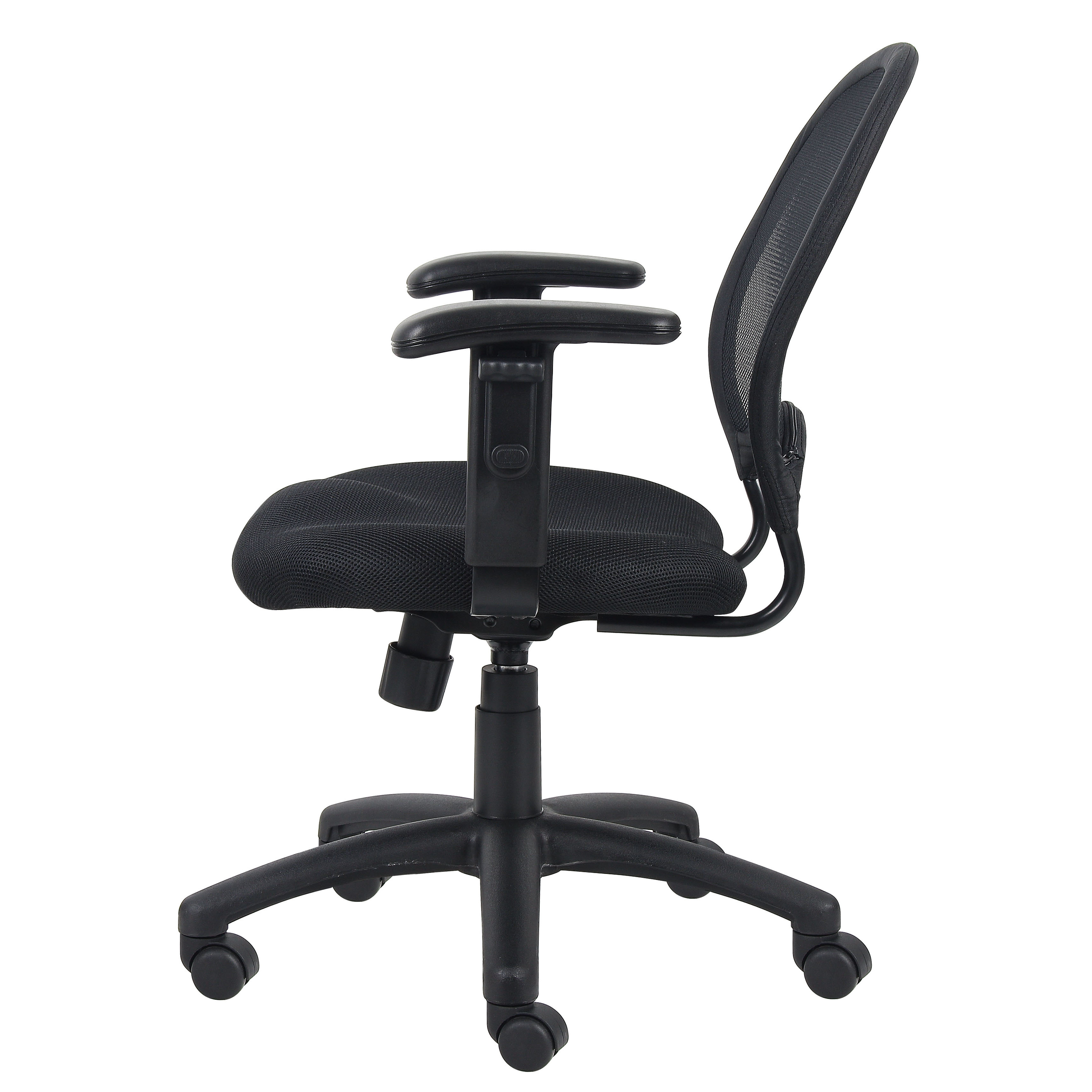 shop boss mesh back task chair with adjustable arms free shipping