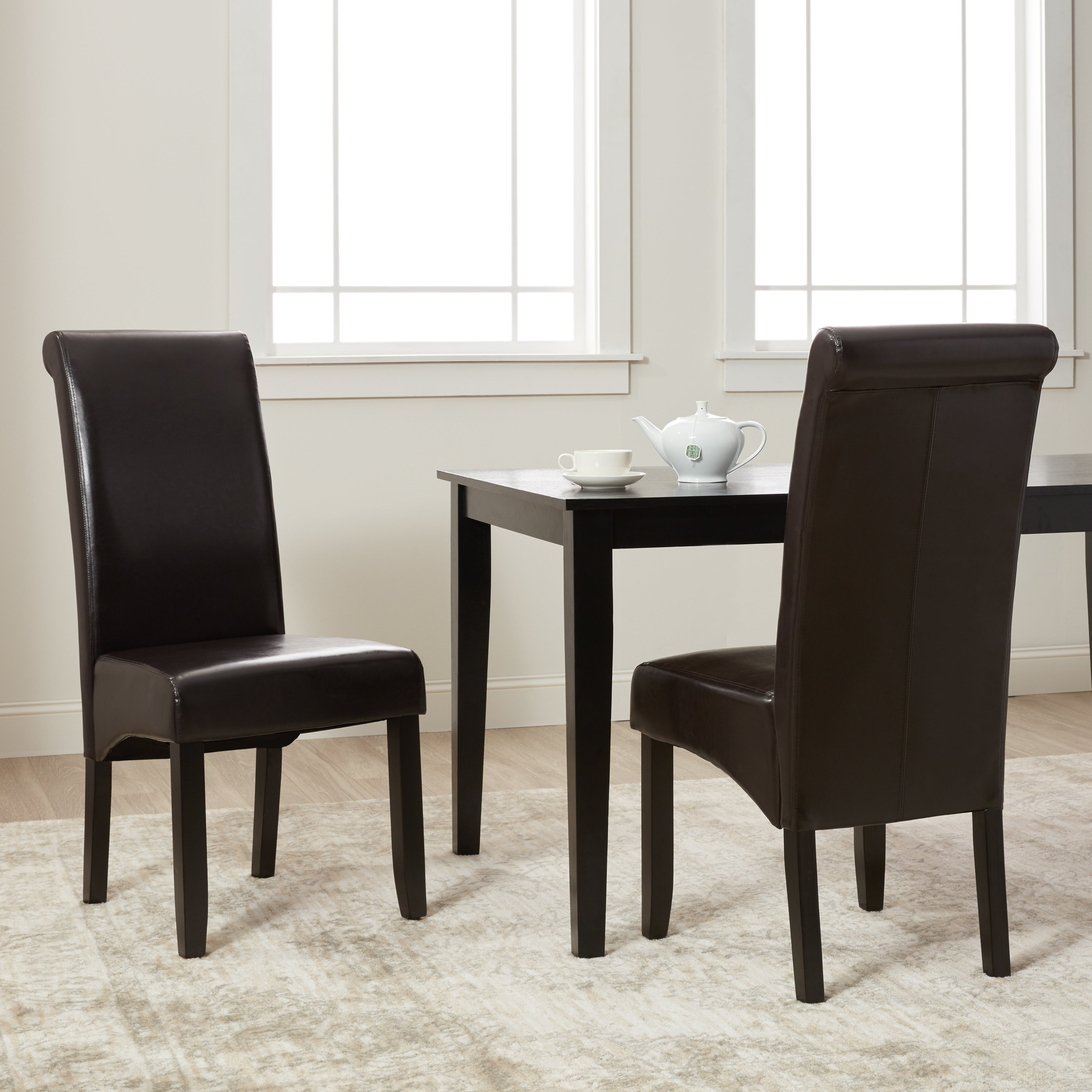 Milan Faux Leather Dining Chairs Set Of 2
