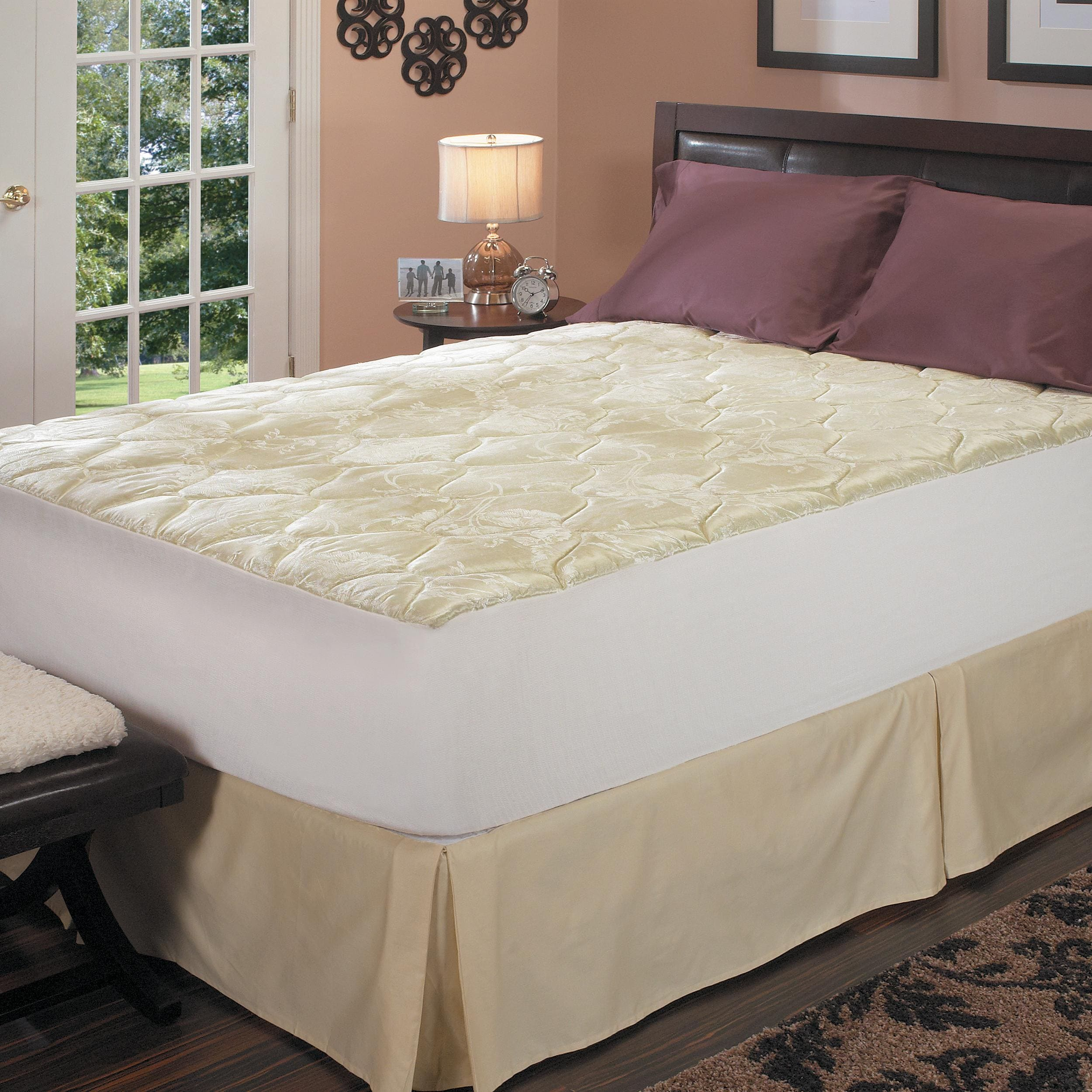 the latest e2d14 c3443 Latex Foam Core Pillow Top Queen/ King/ Cal-King-size Mattress Pad