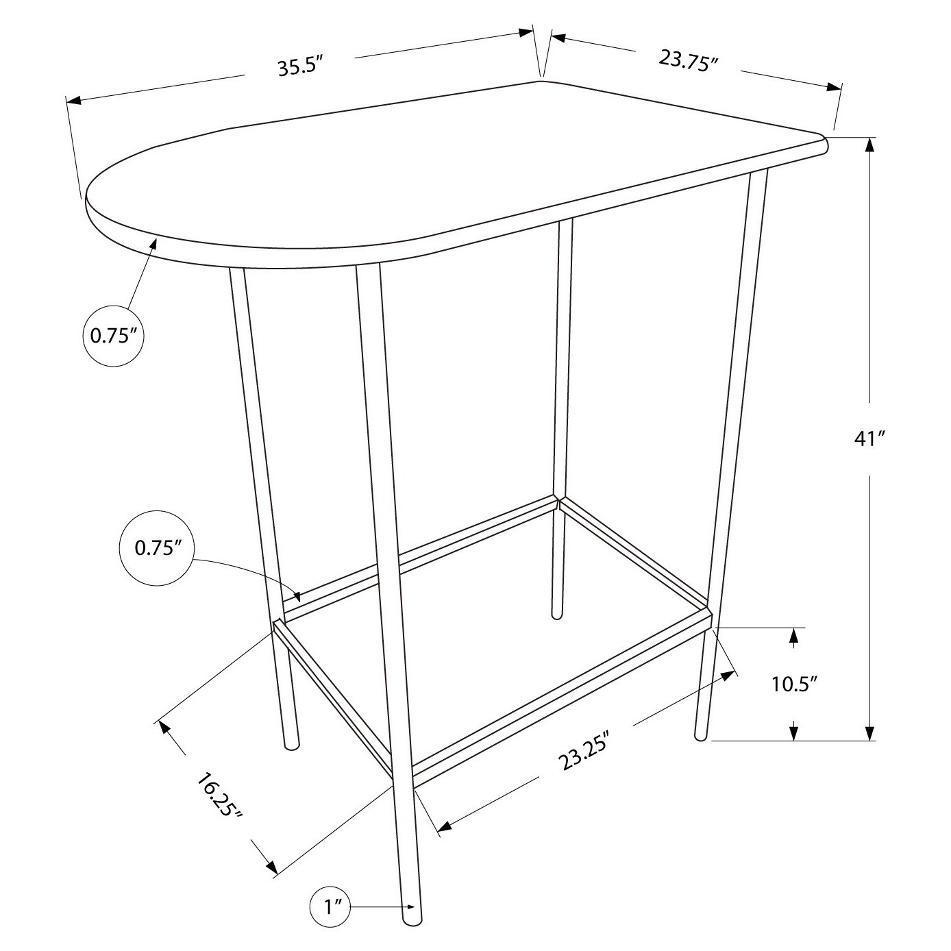 Cappuccino black metal space saver bar table free shipping today cappuccino black metal space saver bar table free shipping today overstock 13934579 watchthetrailerfo