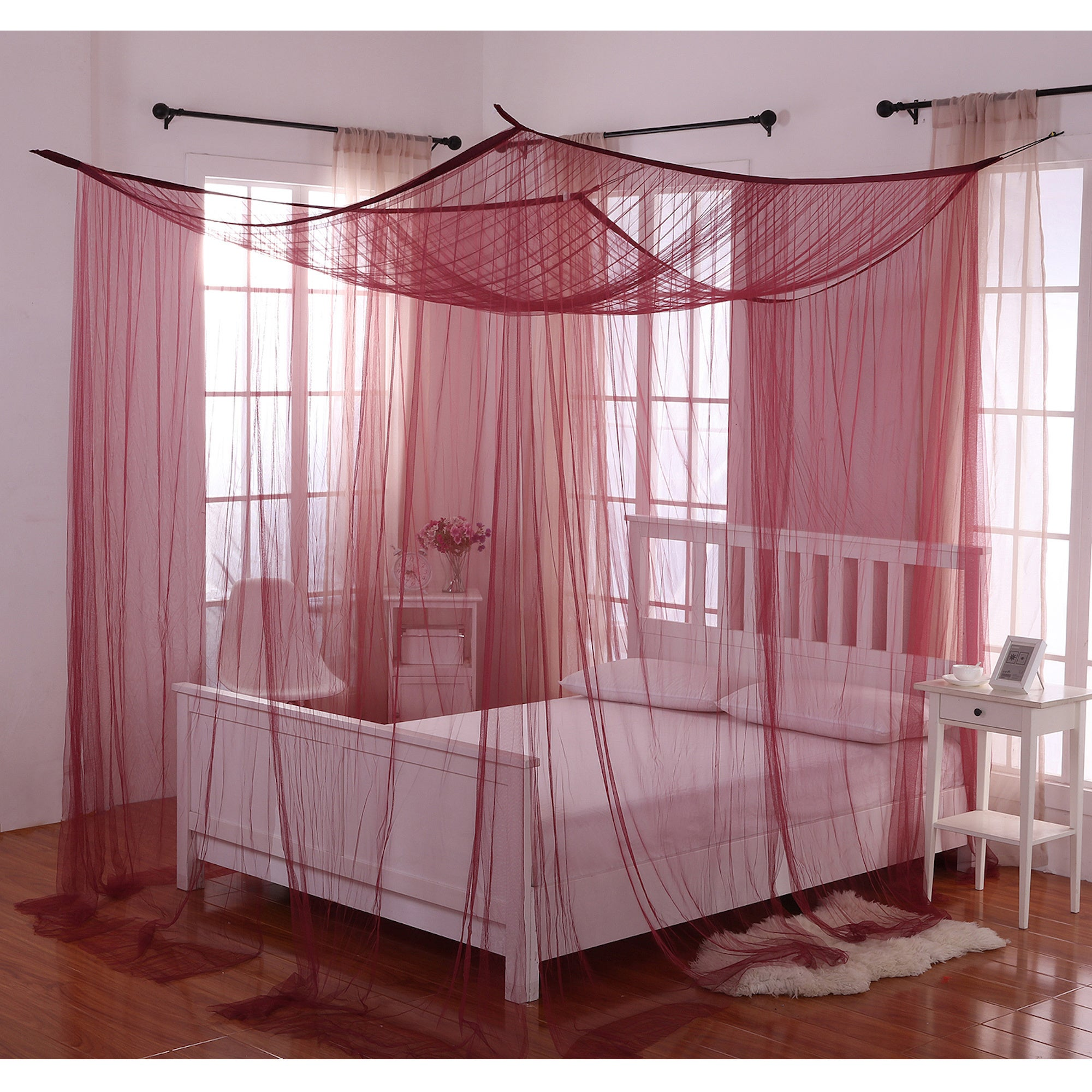 Shop Palace 4 Post Bed Sheer Panel Canopy