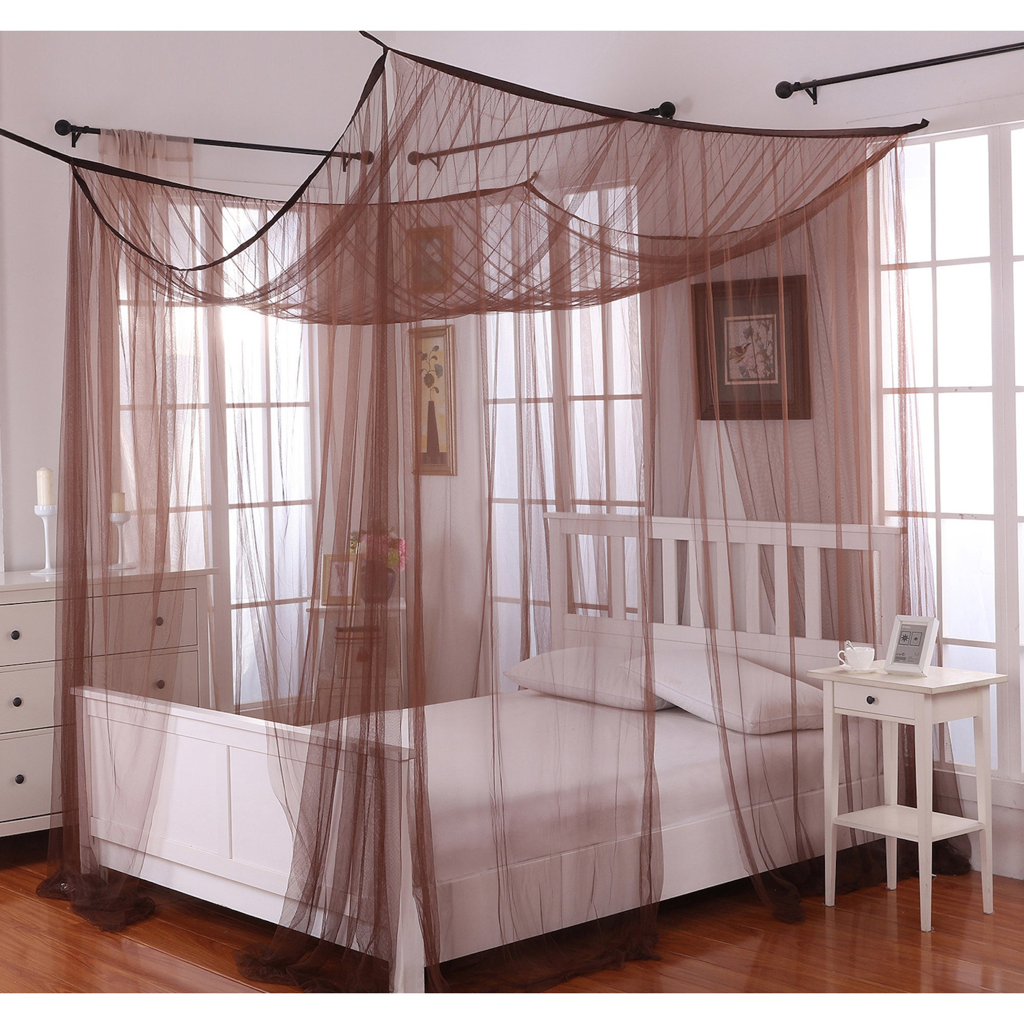 Palace Four-poster Bed Canopy - Free Shipping On Orders Over $45 - Overstock.com - 13936018 & Palace Four-poster Bed Canopy - Free Shipping On Orders Over $45 ...