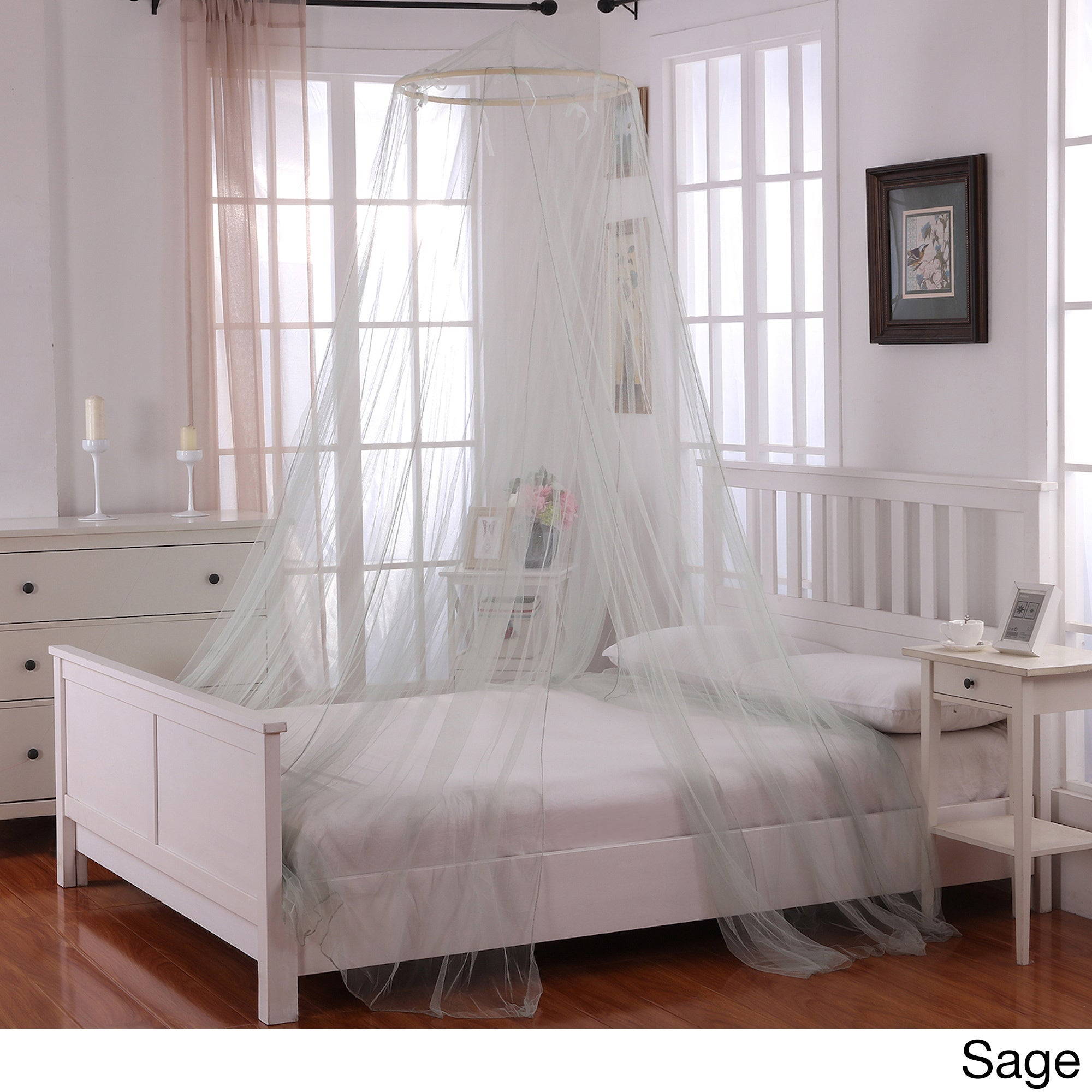 Oasis Round Hoop Bed Canopy - Free Shipping On Orders Over $45 - Overstock.com - 13936025 & Oasis Round Hoop Bed Canopy - Free Shipping On Orders Over $45 ...