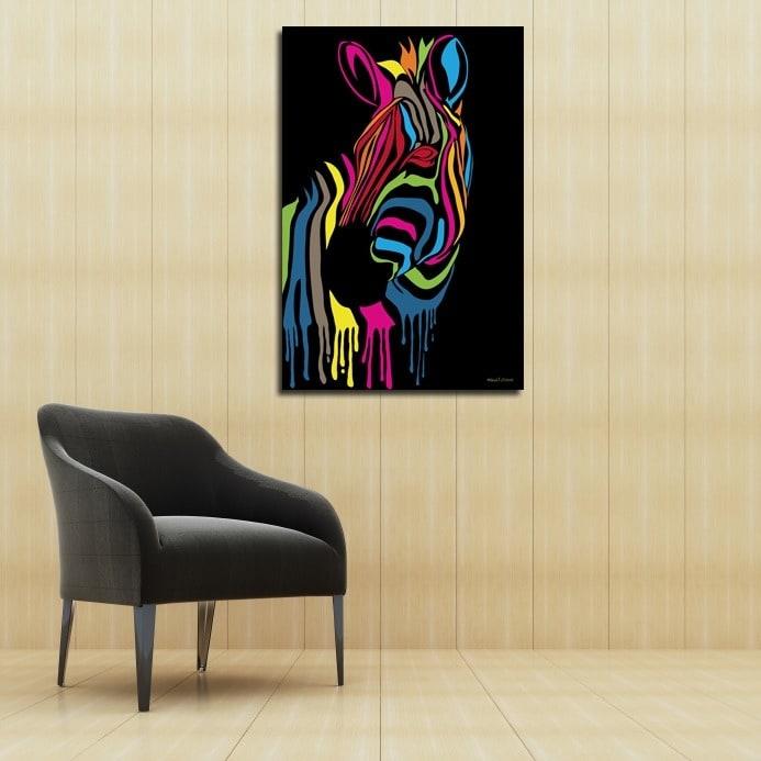 Maxwell Dickson \'Zebra Stripes\' Canvas Wall Art - Free Shipping ...