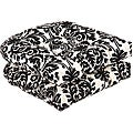 Pillow Perfect Outdoor Black/ Beige Damask Seat Cushions (Set of 2)