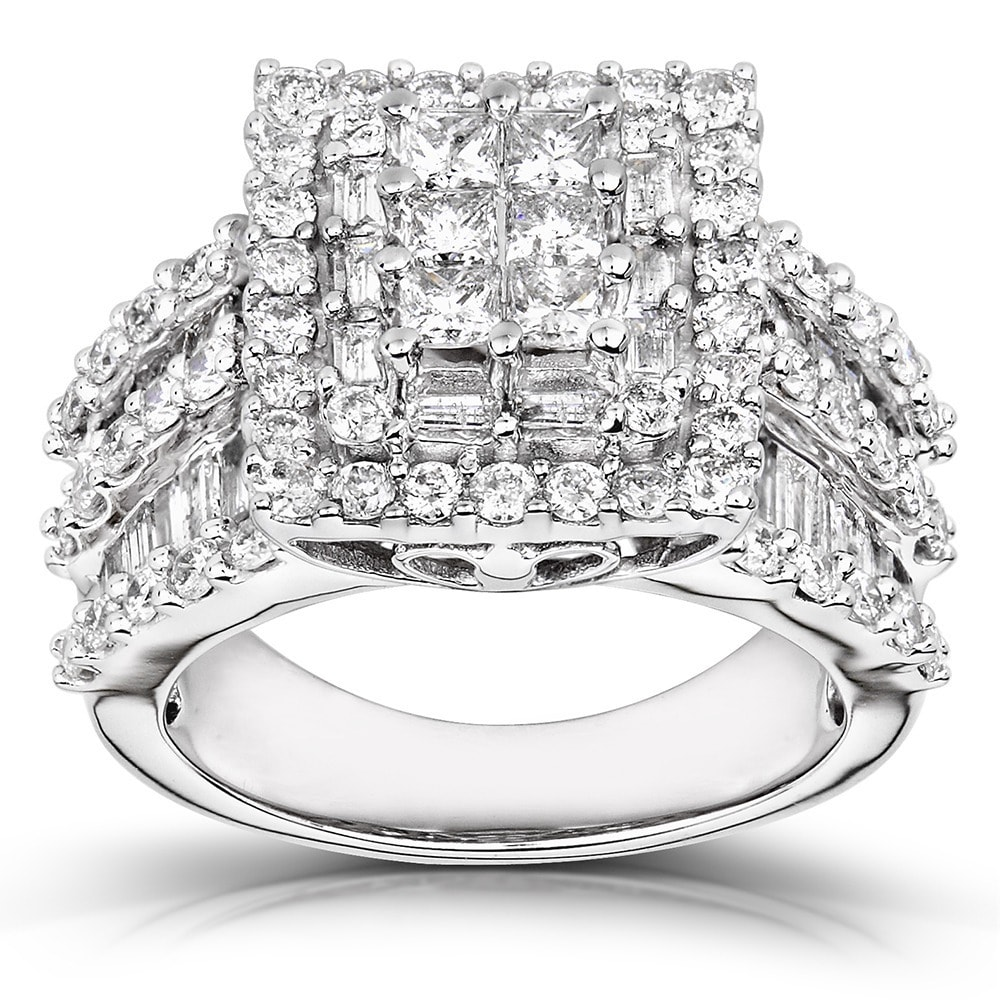 composite engagement cushion ct tw in ring white t gold p w frame v diamond