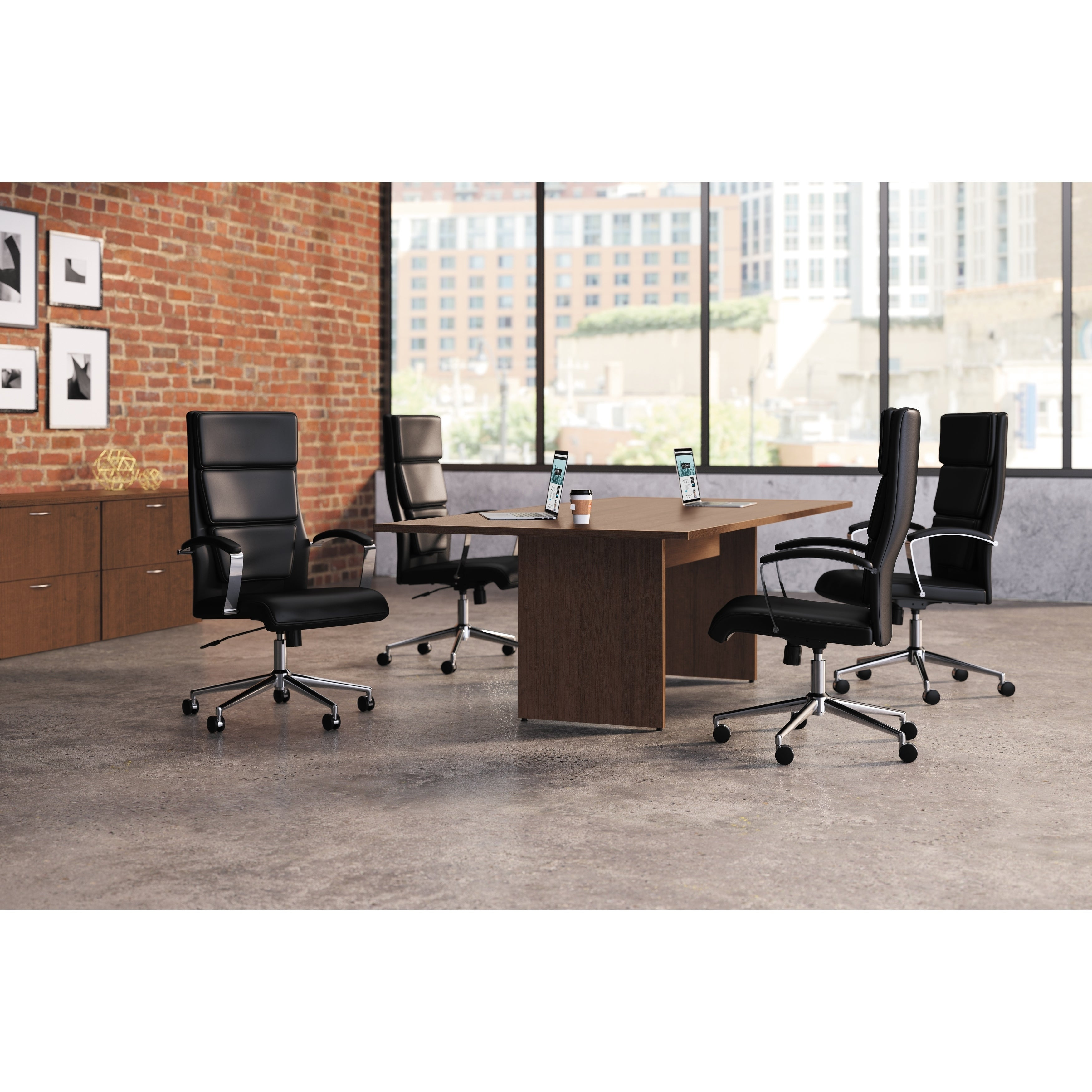 Shop HON Executive High-Back Leather Task Chair, Black (BSXVL105SB11) -  Free Shipping Today - Overstock.com - 6321775