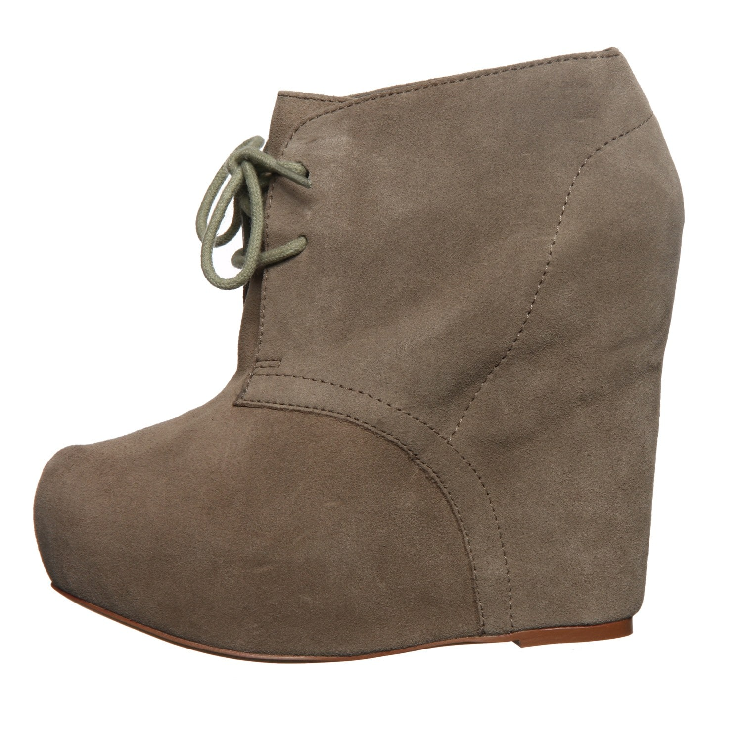 612978905e5b Shop Steve Madden Women s Wedge Lace-up Booties - Free Shipping Today -  Overstock - 6325965