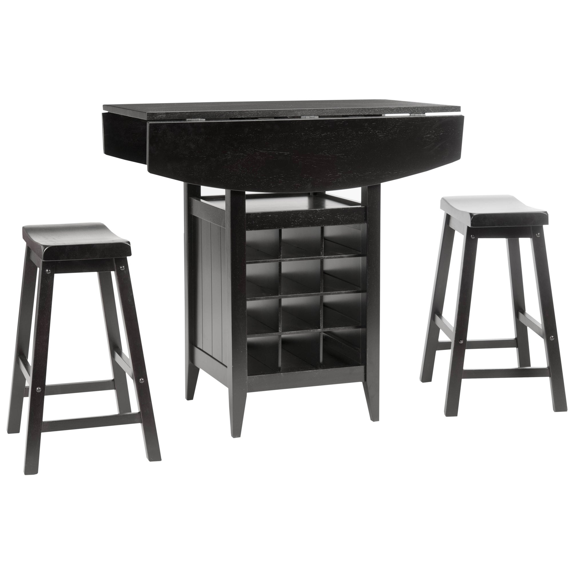 Safavieh Winery 3 Piece Counter Height Brown Storage Pub Set   Free  Shipping Today   Overstock.com   13959011 Images