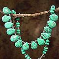 Handmade Sterling Silver 'Fortune's Friend' Dyed Magnesite Necklace (India)