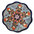 Handmade Ceramic 'Wilderness' Talavera Serving Plate (Mexico)