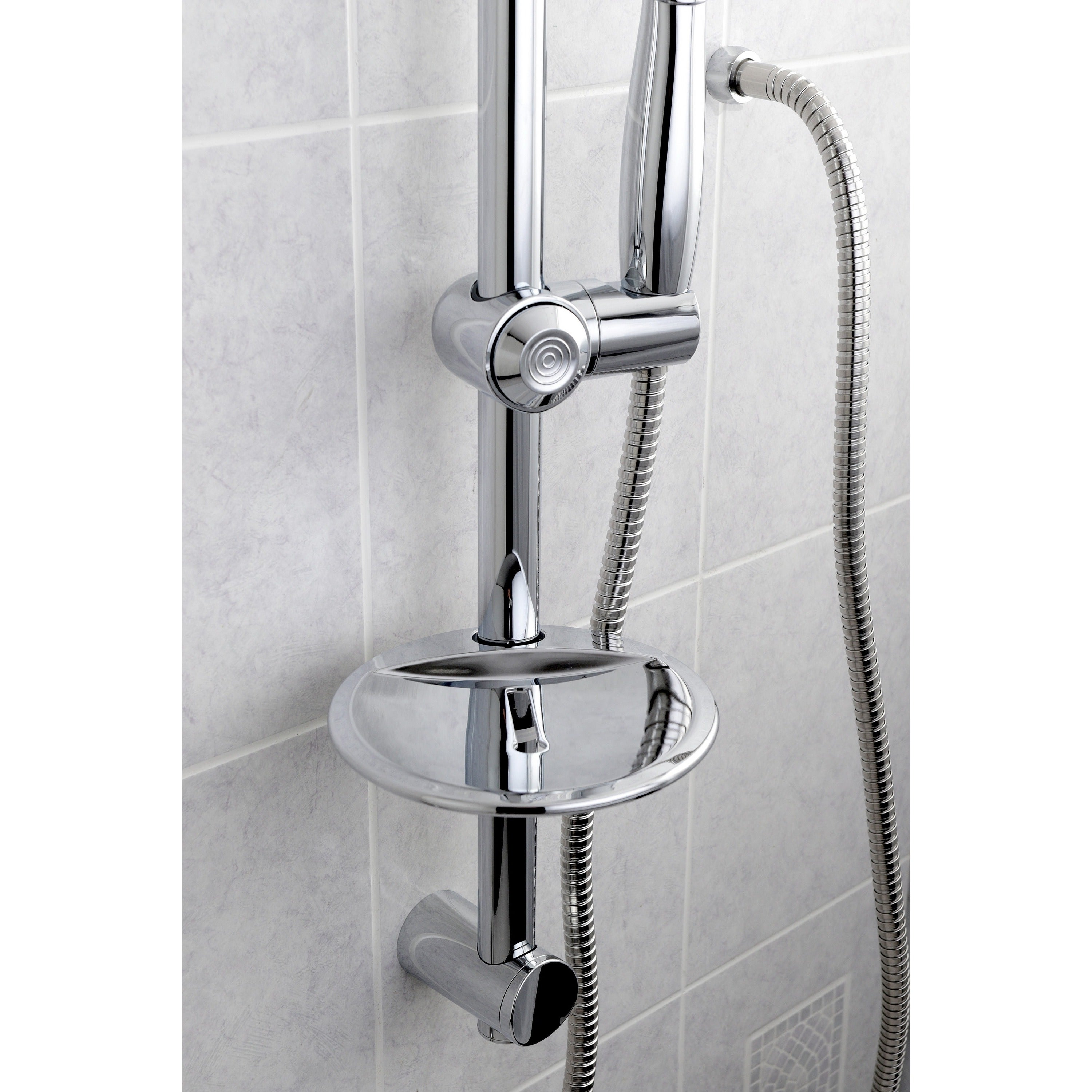 Chrome Sliding Bar with Handheld Shower - Free Shipping Today ...