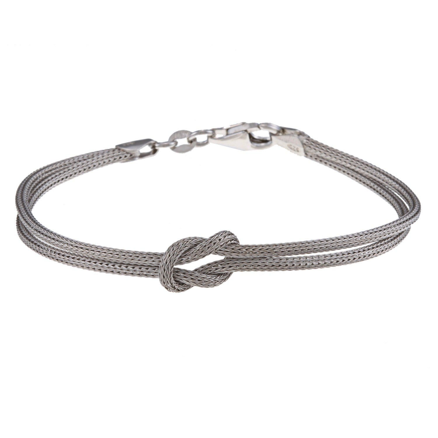 La Preciosa Sterling Silver Double Strand Center Love Knot Bracelet On Free Shipping Orders Over 45 6345792