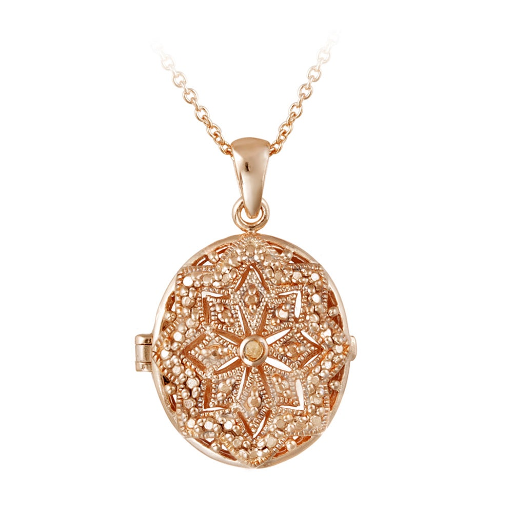 Db designs diamond accent star design oval locket necklace free db designs diamond accent star design oval locket necklace free shipping on orders over 45 overstock 13967280 aloadofball Images