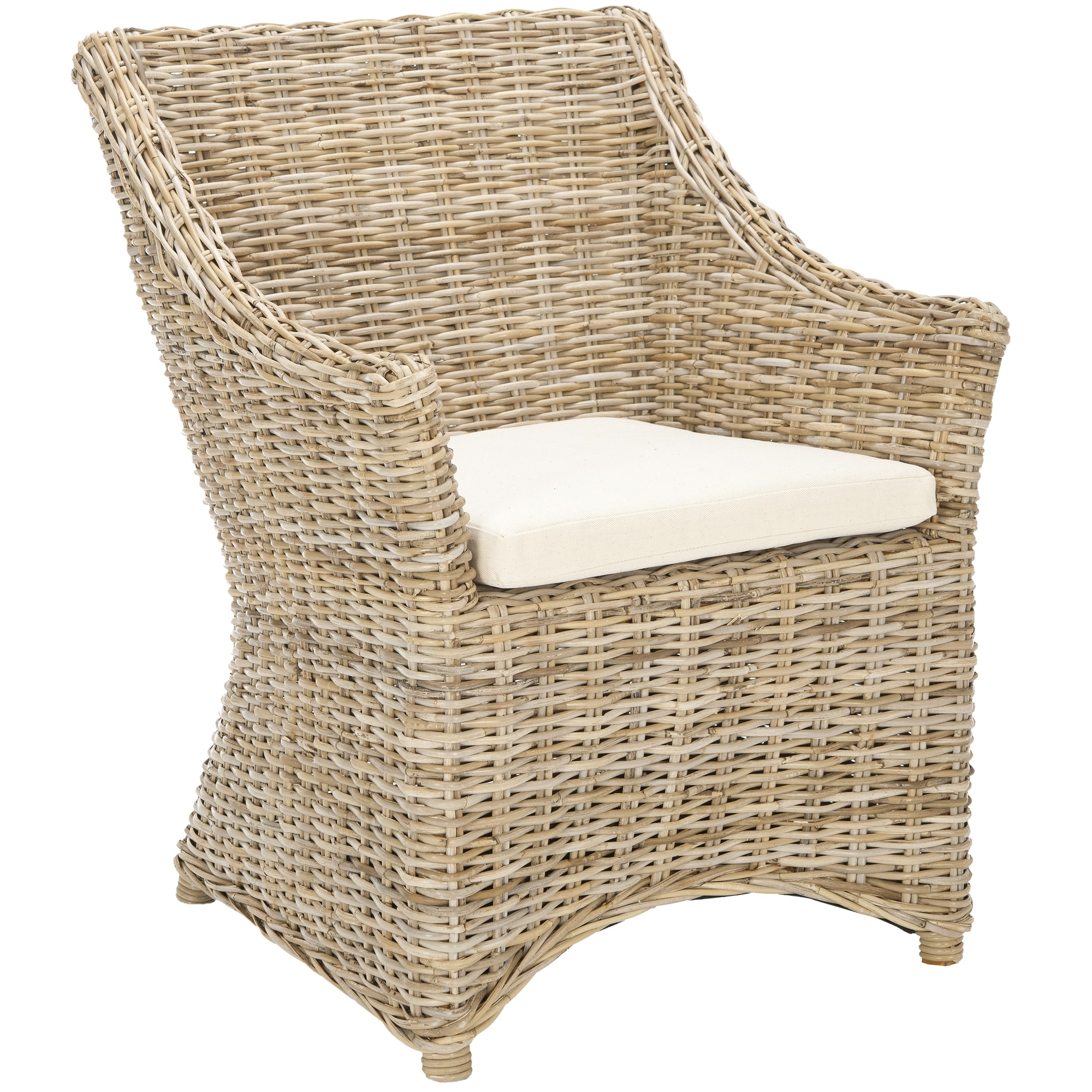 Merveilleux Shop Safavieh Rural Woven Dining St Thomas Indoor Wicker Washed Out Brown  Wing Back Arm Chair   On Sale   Free Shipping Today   Overstock.com    6347625