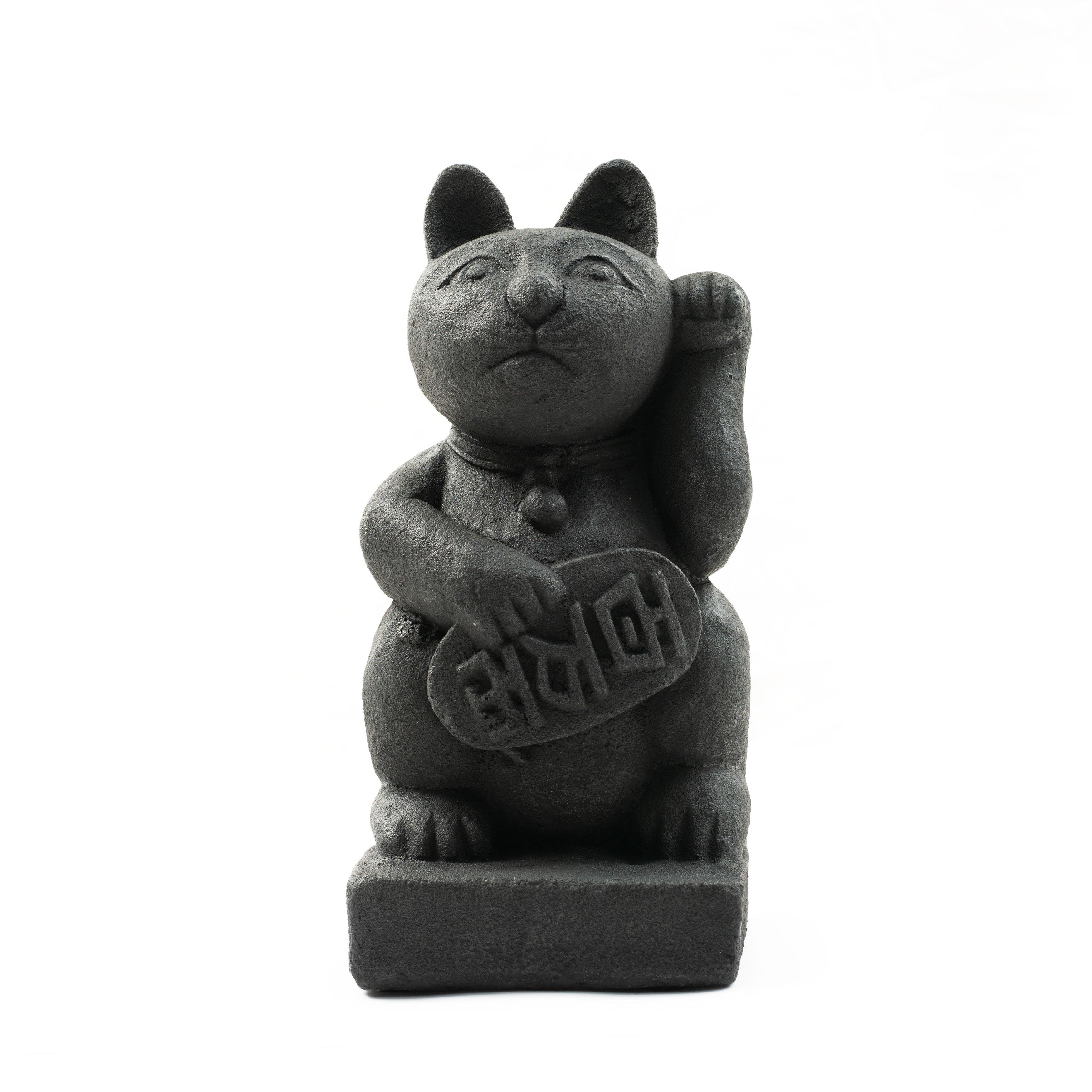 f9582bce6 Shop Handmade Stone Japanese Maneki Neko 'Lucky Cat' Statue - On ...