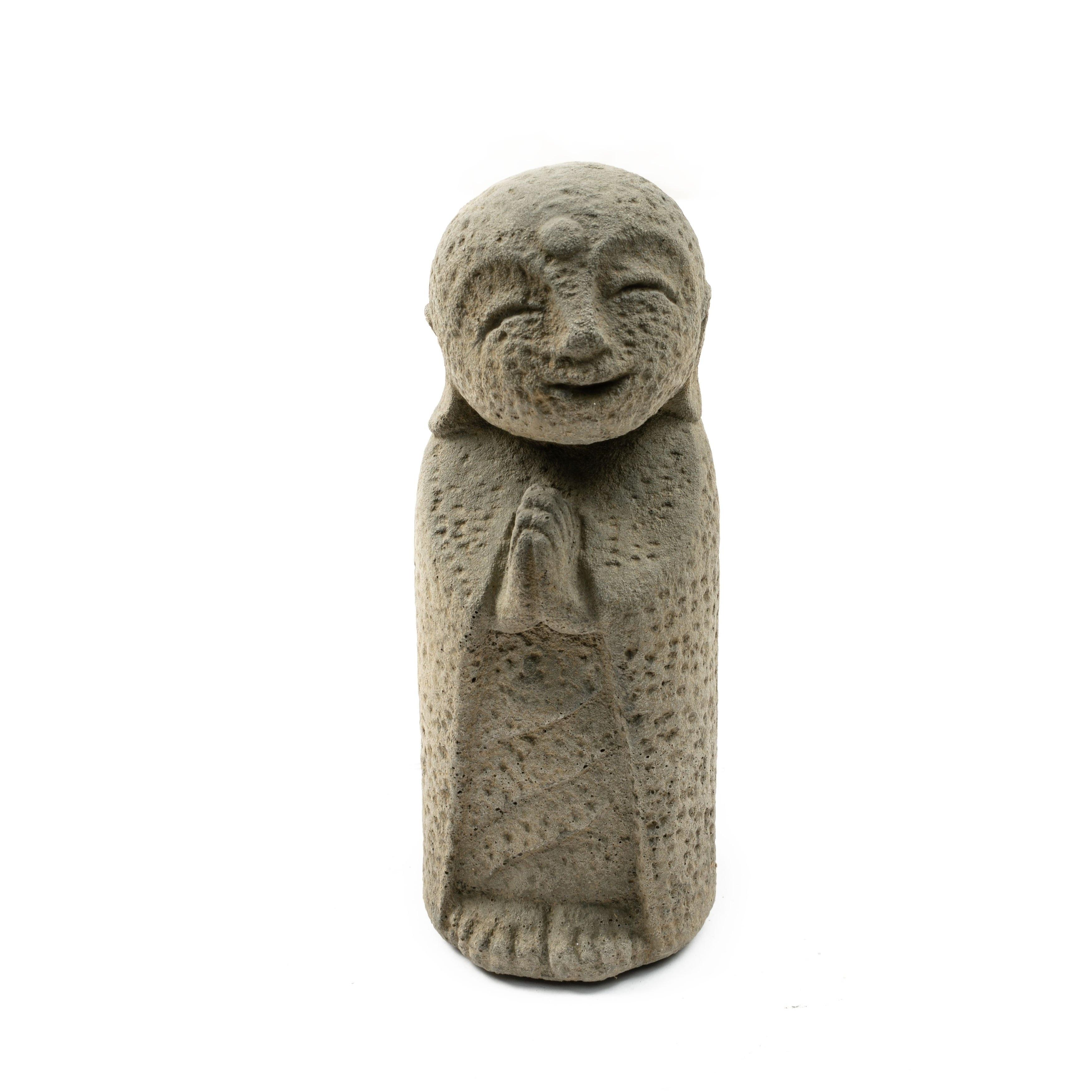19772f6b9531 Handmade Stone Japanese Jizo Statue