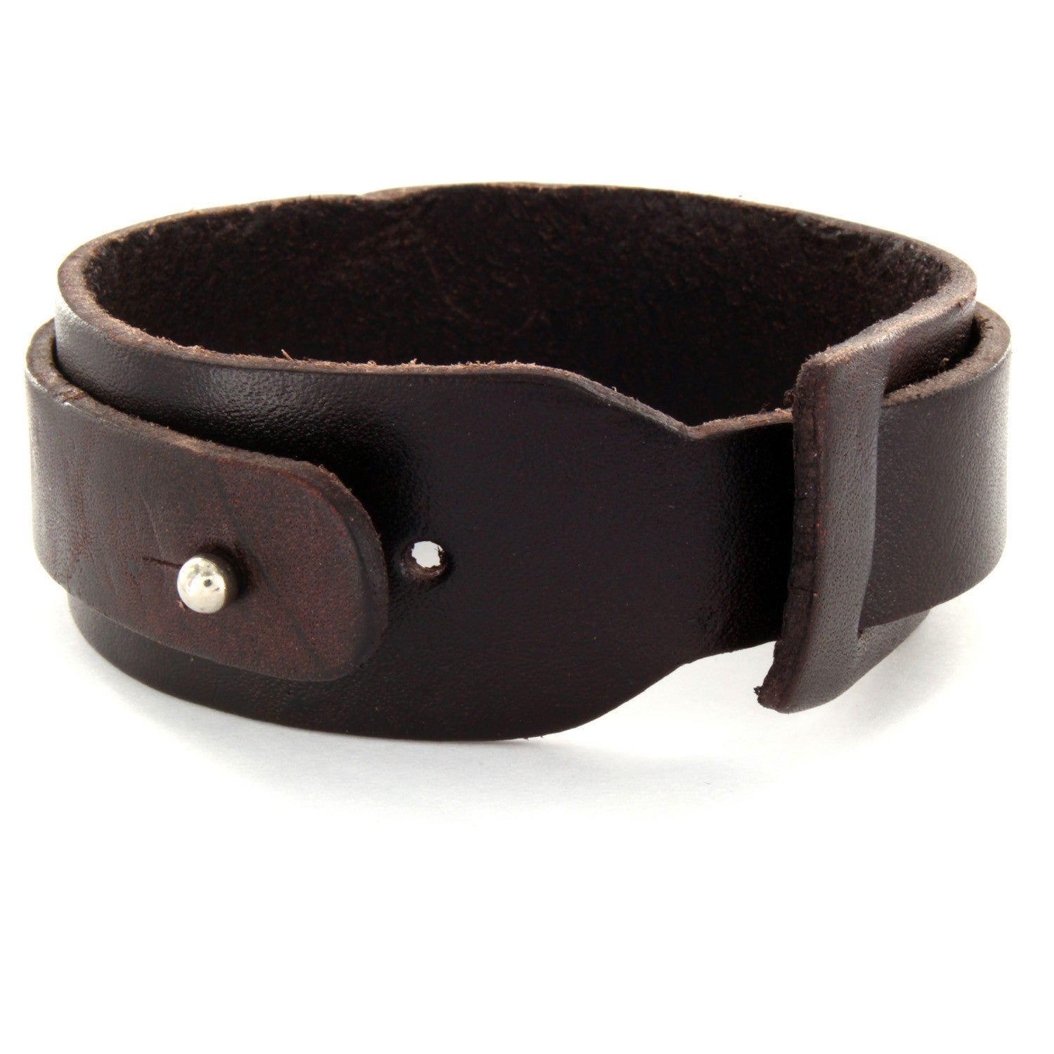 Men S Brown Leather Tribal Design Layered Cuff Bracelet Free Shipping On Orders Over 45 6359642